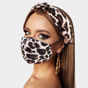 Accessories - Leopard Print Fashion Mask & Headband Set